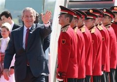 President George W.Bush in Tirana