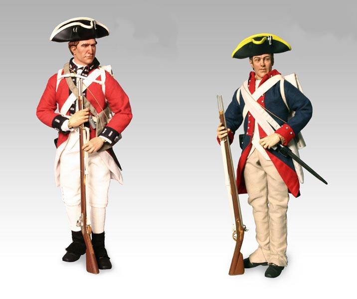 The American Revolution Playset: The Red Coat Vs. Blue Coat Playset