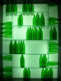 Interesting bottle display