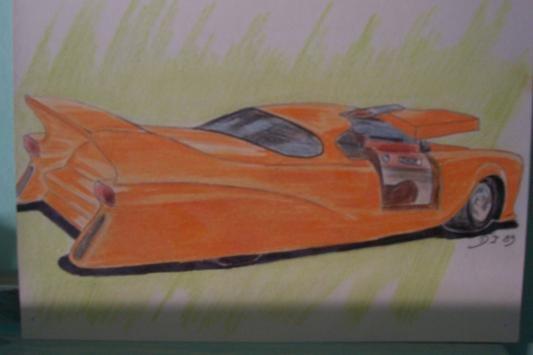 Proto car orange