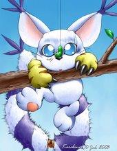 Esta es una imitación  de ese póster tan conocido de gato colgando del tendedero
