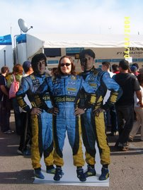 Yo con Alonso y Fisichella, jeje