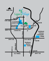 MAP TO LEGACY VILLAGE