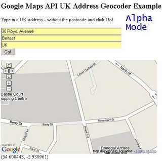 Address Geocoder Alpha - 30 Royal Avenue,Belfast - Zoomed In