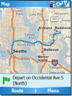 Windows Live Search Map Directions