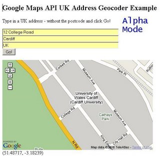 UK Address Geocoder Alpha - 12 College Road - Zoomed In