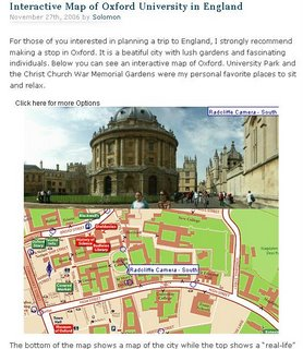Interactive Map of Oxford