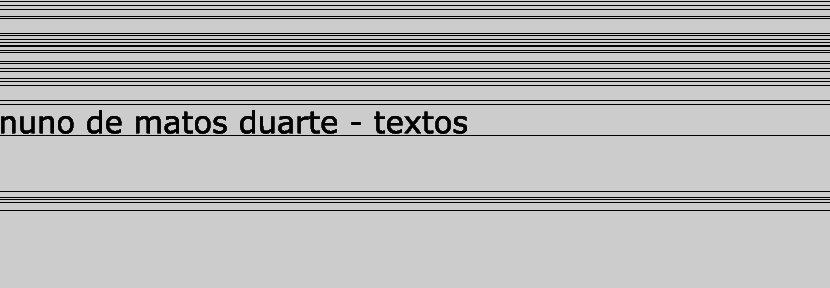 Nuno de Matos Duarte - Textos