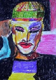 mujeres de color - óleopastel 2005