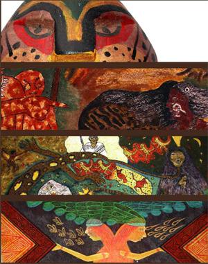 exposición de pintura y escultura uitoto