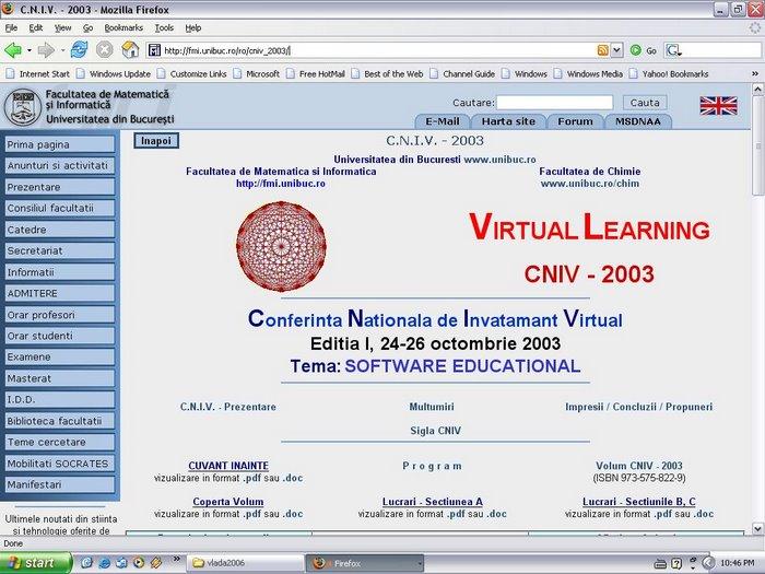 Web site CNIV 2003