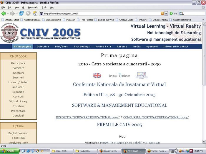 Web site CNIV 2005 (powered by Drupal)