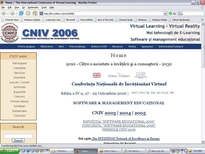 Web site CNIV 2006 (powered by Drupal)