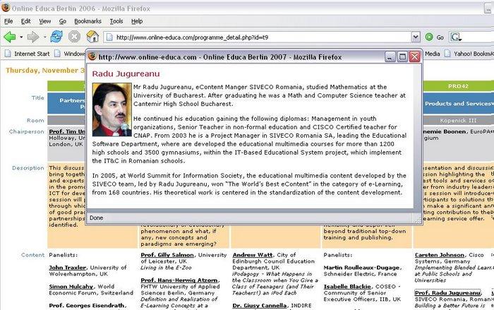 Radu Jugureanu, Ion Roceanu, Grigore Albeanu | 2006 - Educa Berlin [www.online-educa.com/]