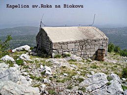 Kapelica Svetog Roka na Biokovu iznad Župe