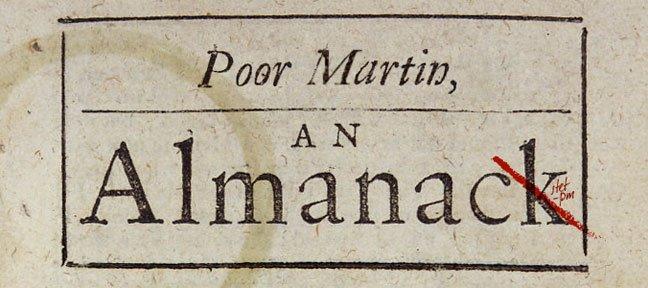 Poor Martin's Almanac