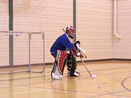 Earl in goal