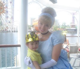 Kaleigh with Cinderella