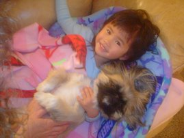 Kaleigh with her doggy, Sidney.