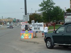 Minnesotans give United States Senator  Norm Coleman a piece of their mind about the Iraq War...