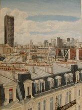 Vue des toits de Paris/Concorde Lafayette
