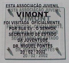 visita pelo Secdretariado de Estado da Juventude em 20/02/2002