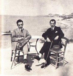 Καρυωτάκης με ένα φίλο του