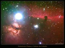 Las nebulosas de la Cabeza de Caballo y de la Flama