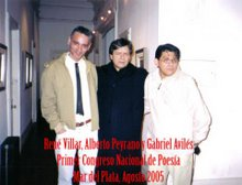 René Villar, Alberto Peyrano y Gabriel Aviles (De izq. a der.)
