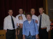 Bill, mom, and sons