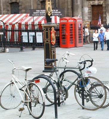 Bicycles parked in London