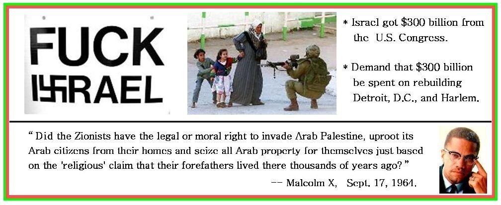 Stop Raping Palestine.