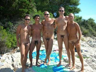 Nudist nude Gay guy man male naturist