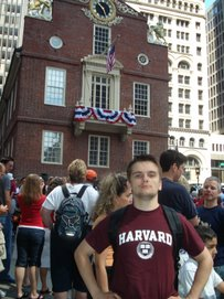 Bila balkony,de vpershe procytalu Deklaraciju Nezaleznosti USA, July $th 2007, Boston MA