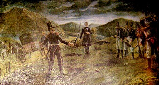 Pintura Diego Portales En el Cerro Barón
