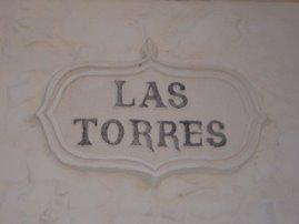 PLACA DE LA CALLE LAS TORRES