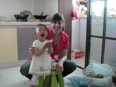 Mit Jingjing in der Küche