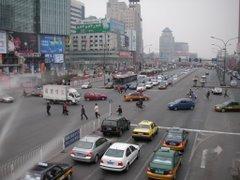 Erste Strassenimpression von Peking...