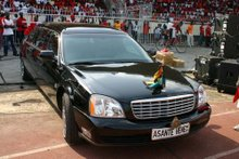The Asantehene ride in this
