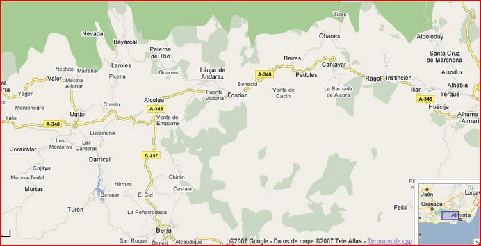Localización de Fondón