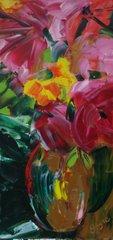 Raphsodie en rose 16 x 8 VENDUE