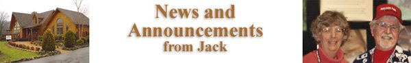 News and Announcements from Jack