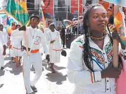 Inauguration de l'A.C:  participation afro-bolivienne