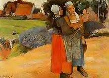 Paysannes bretonnes de Paul Gauguin