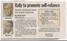 News Clipping Of Jobs And Freedom Rally