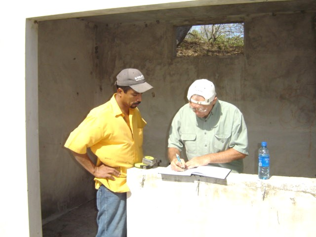 Edwin & Pat making house plans