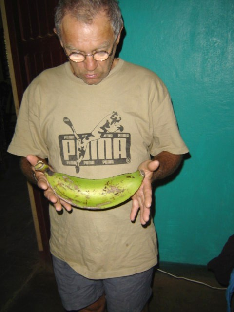 Pat & very large platano (plantain)