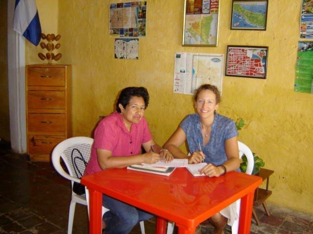 At the Spanish school with Haydee, maestra extraordinaire