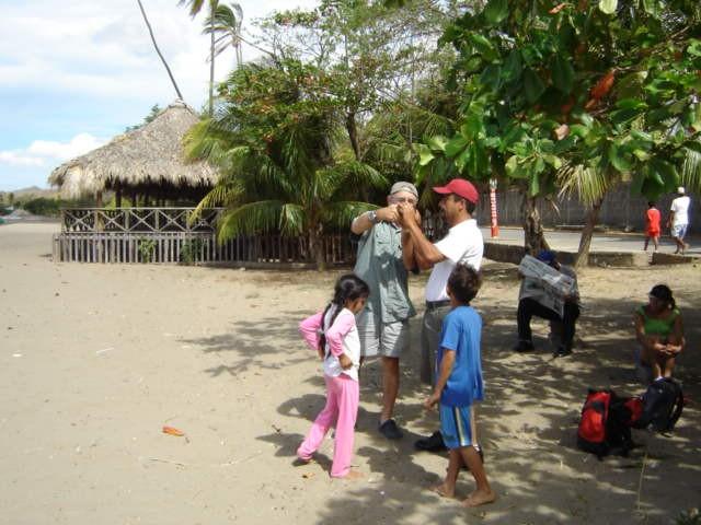 Pat, Edwin,  & kids at San Juan del Sur