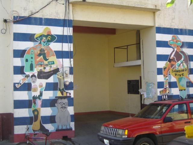 Sandinista mural in Leon